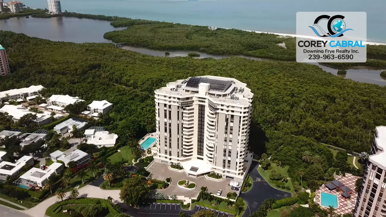 Grosvenor High Rise Condo Real Estate for Sale in Naples, Florida