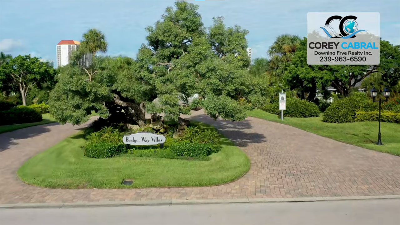 Bridge Way Real Estate Villas for Sale in Pelican Bay Naples, Florida